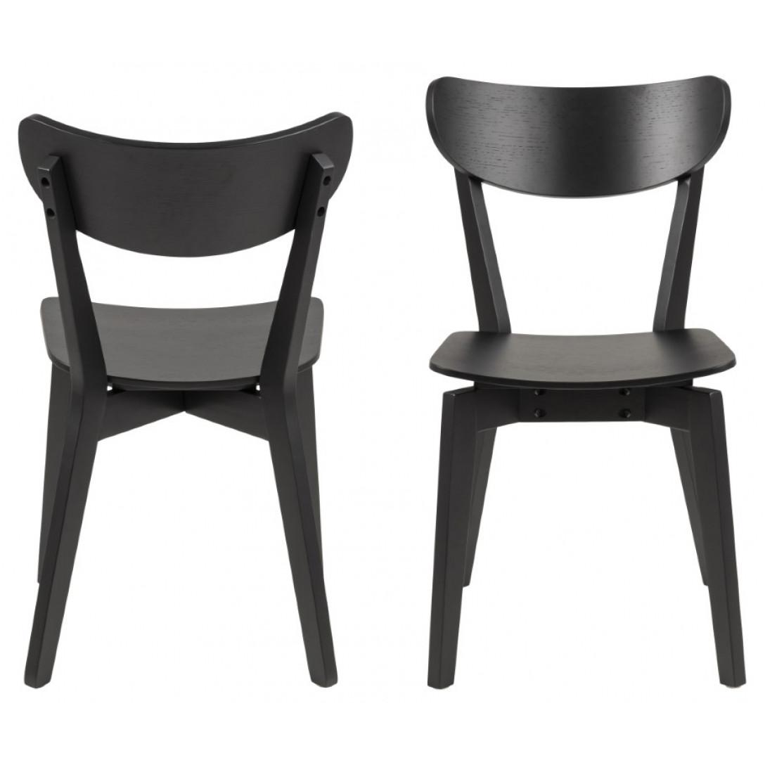 2-er Set Esszimmerstühle Hoxby | Schwarz