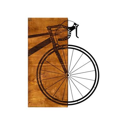 Dekoratives Wandzubehör aus Holz Bisiklet l Walnuss-Schwarz