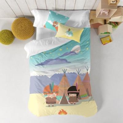 Duvet Cover 140 x 200 cm & Pillow 40 x 40 cm   Indian Night