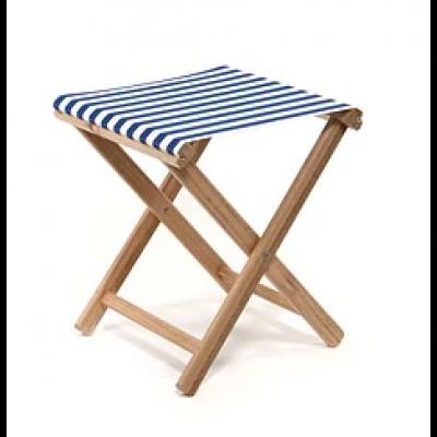 Beach Stool Striped | Blue / White