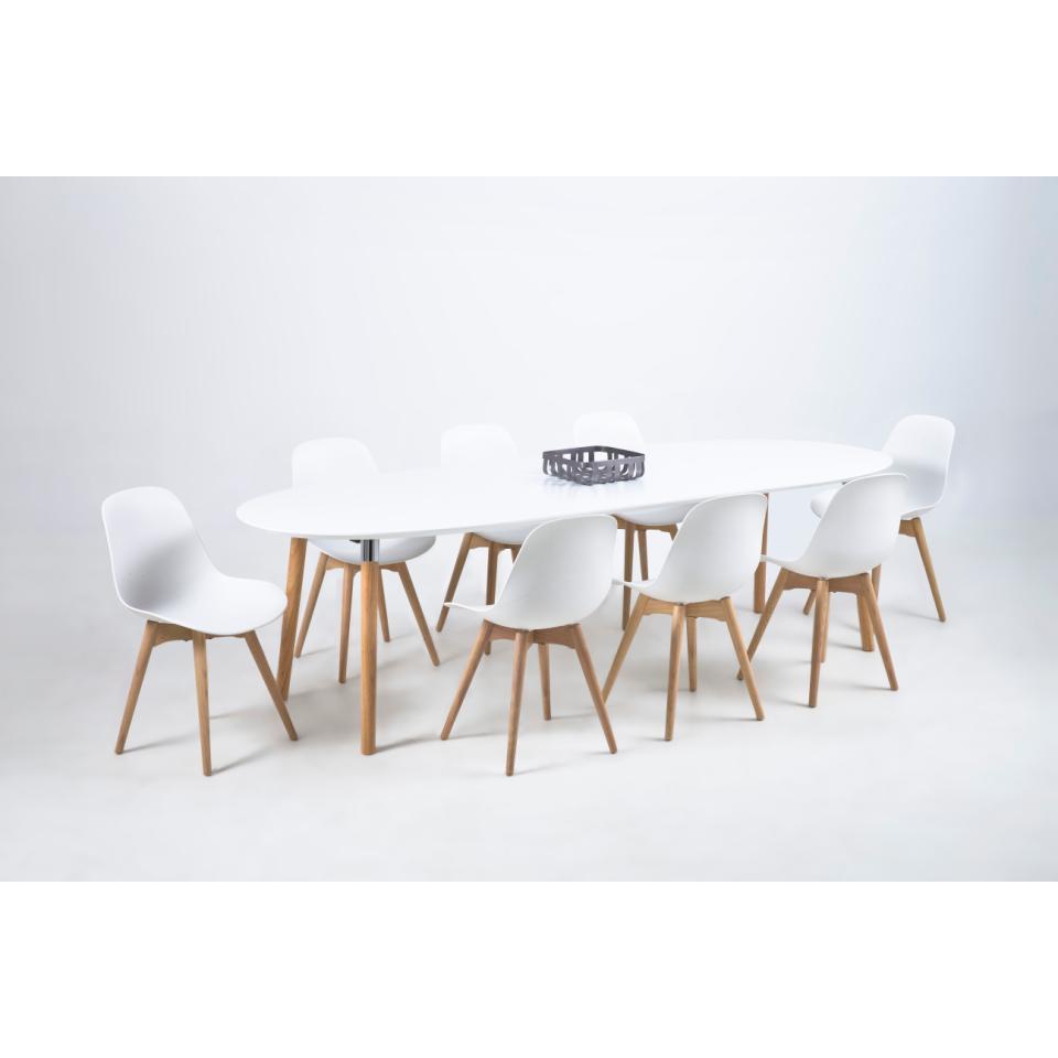 Ausziehbarer Esstisch Lin 170-270 cm | Weiß