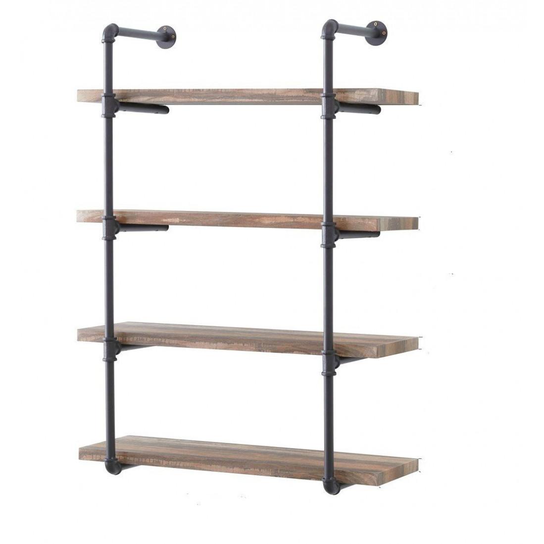 Pipe Shelf Boruraf 106   Black