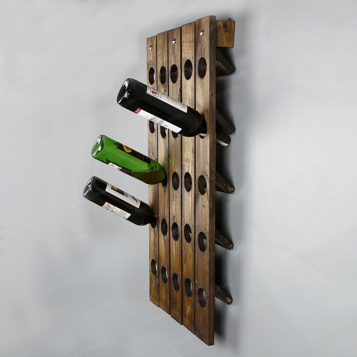 Wine Rack 25 Bottles | Spruce Wood