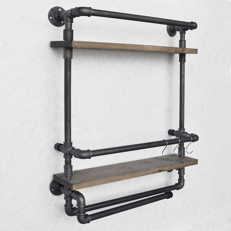 Pipe Shelf Boruraf 104   Black