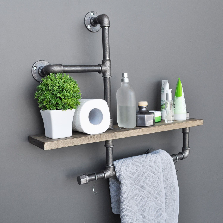 Pipe Shelf Boruraf | Black