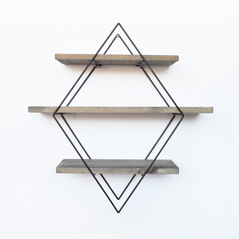Pipe Shelf | Walnut & Metal