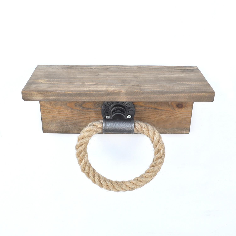 Wall Shelf Rope | Walnut