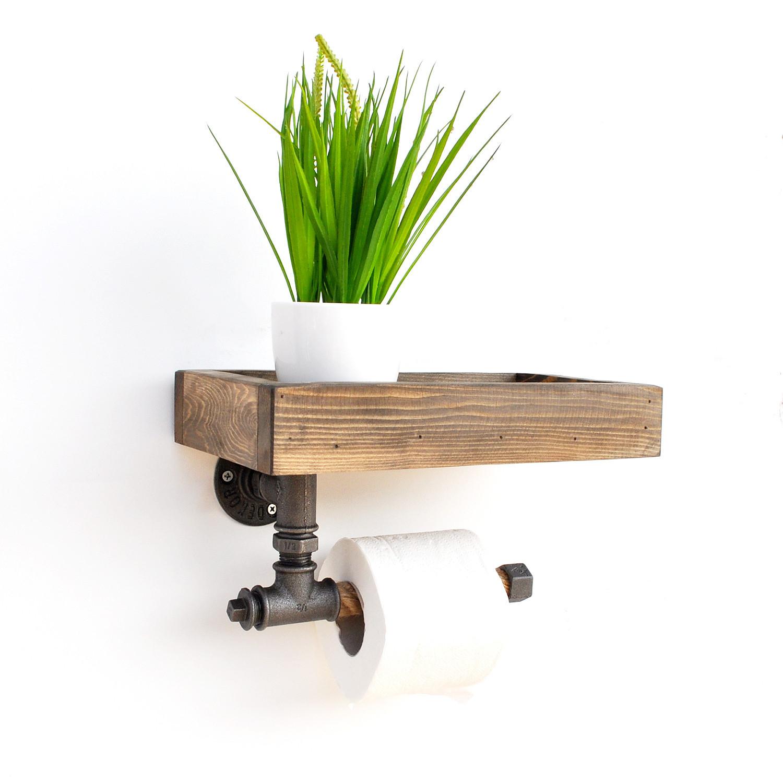 Pipe Shelf Boruraf Small | Walnut