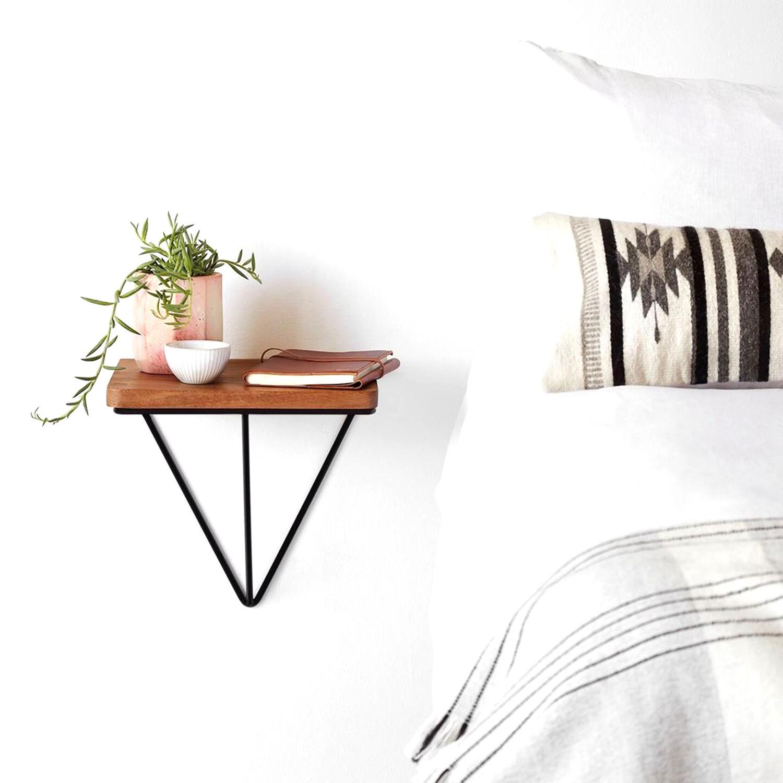 Wall Shelf Wire Small | Walnut
