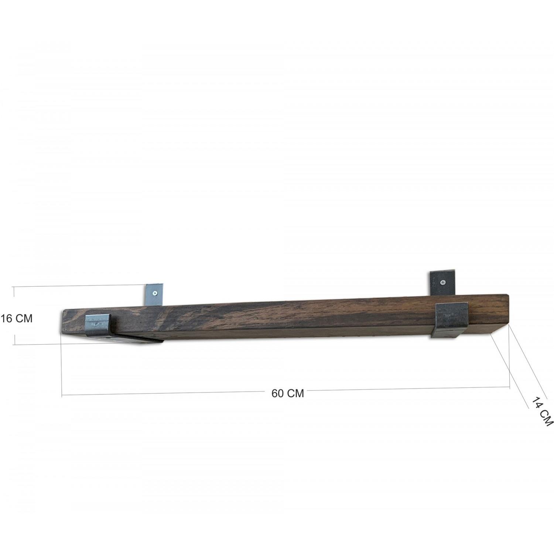 Wall Shelf LAM007 | Walnut & Black