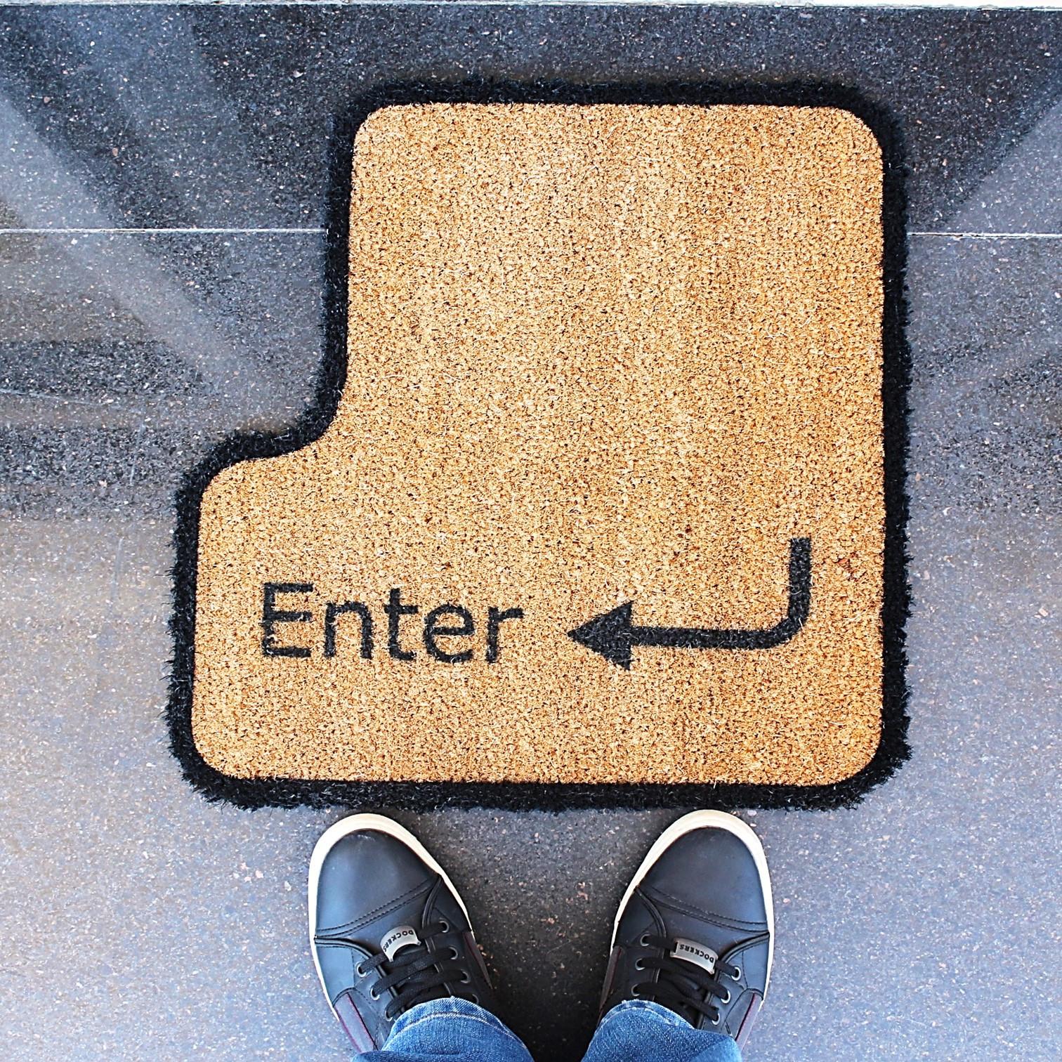 Fußmatte Enter   Braun