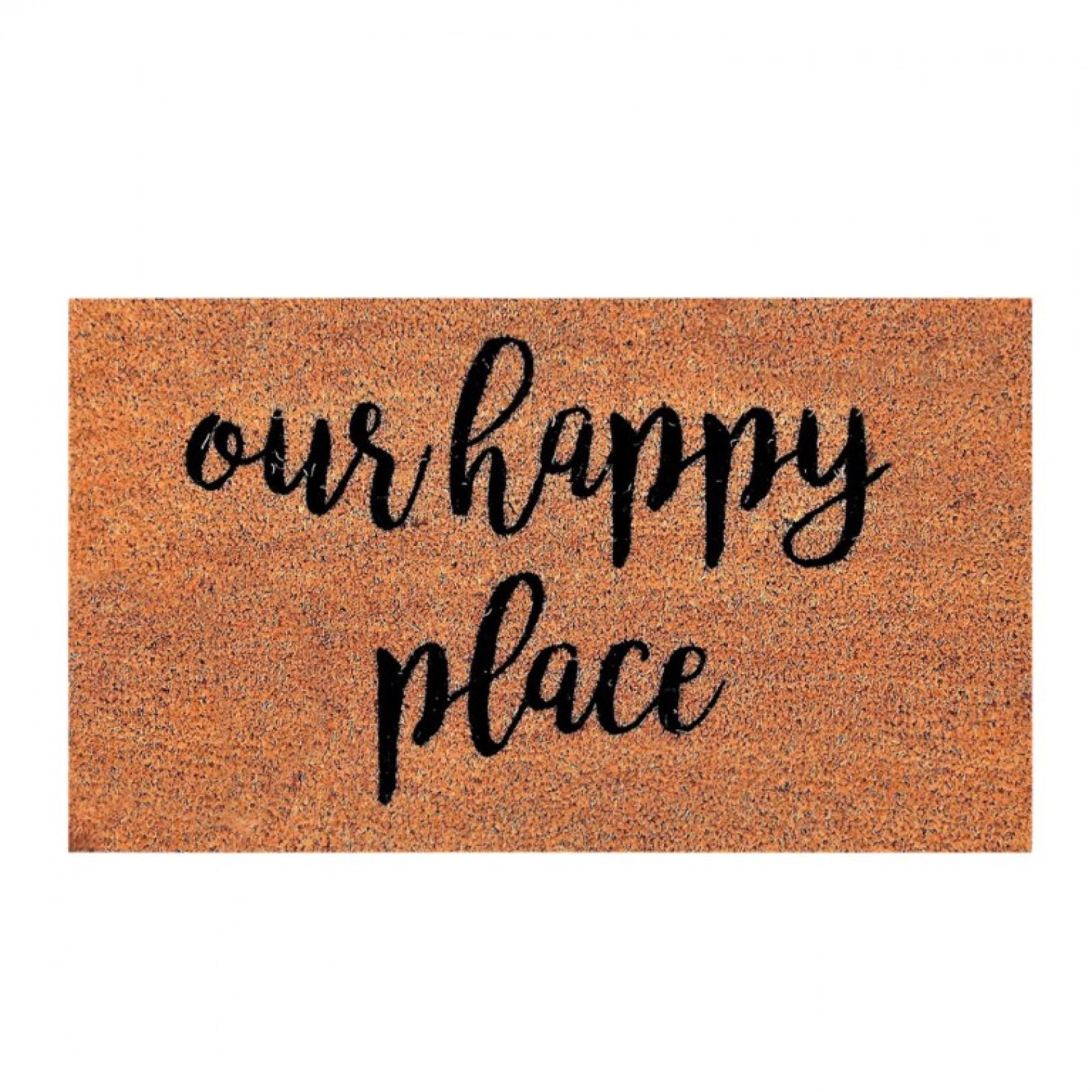 Fußmatte Happy Place | Braun