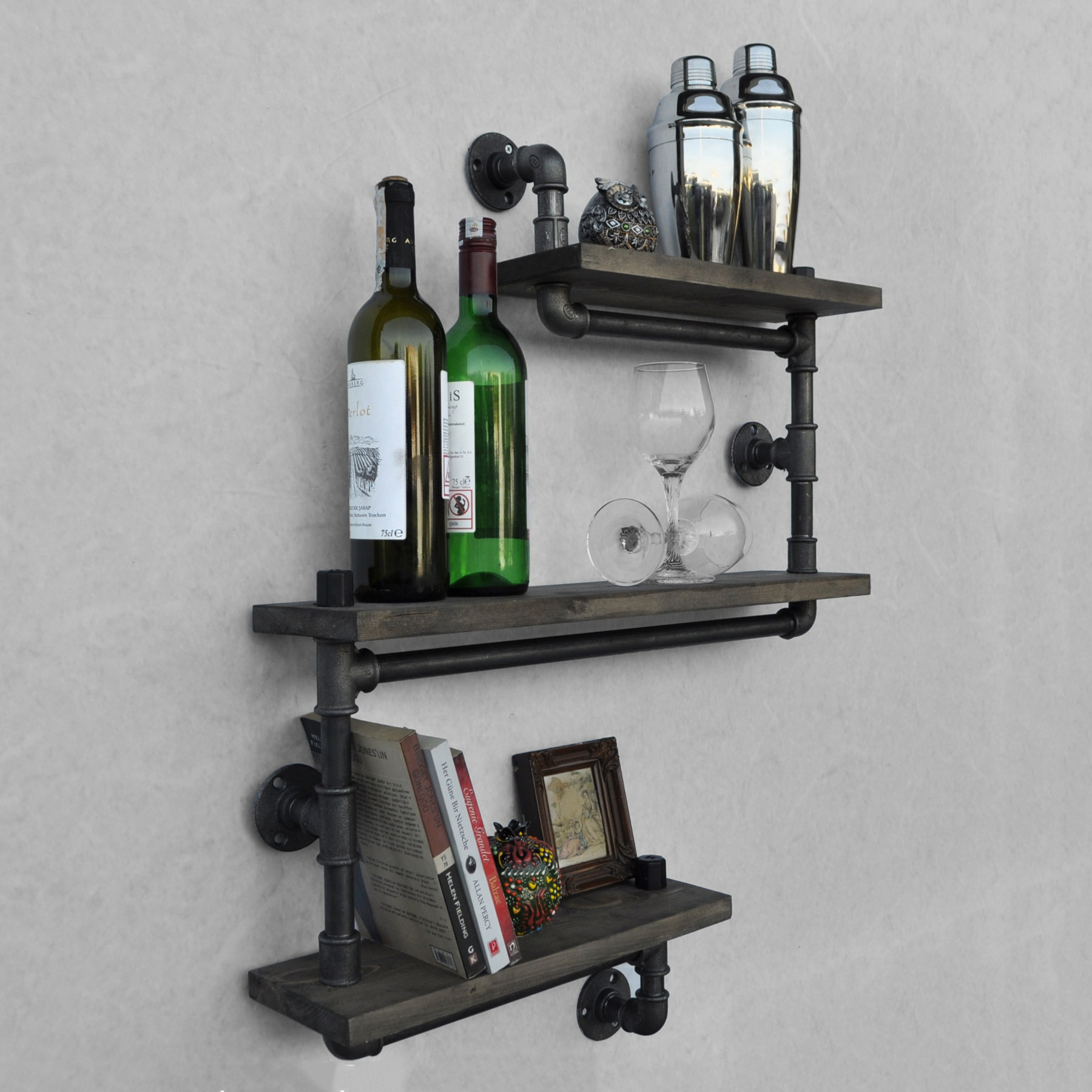 Pipe Shelf Boruraf 026 | Black