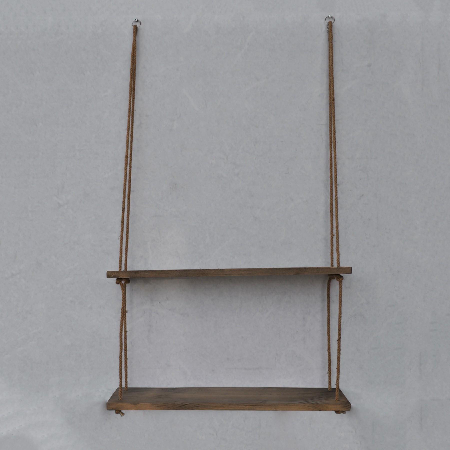 Wall Shelf Double | Walnut