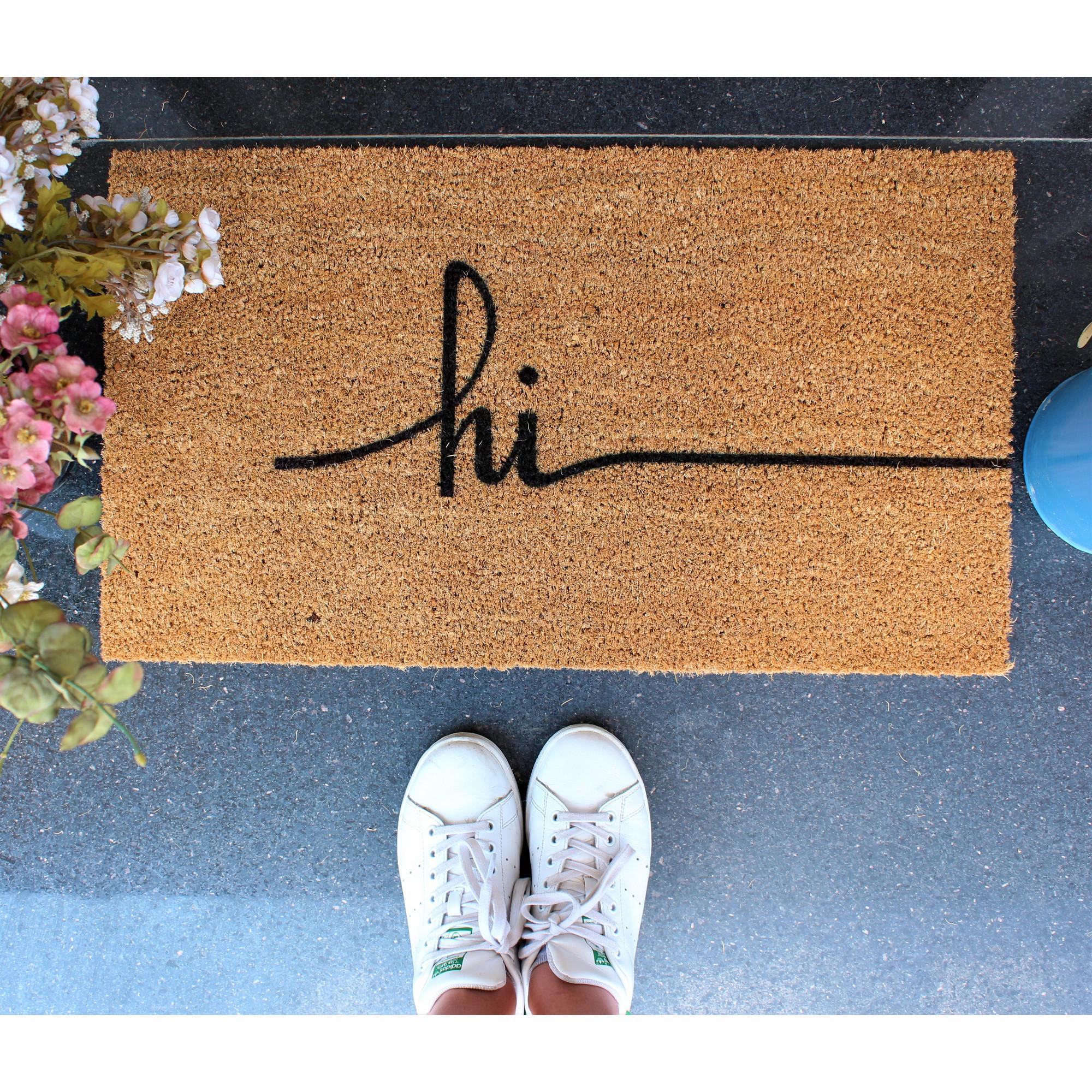 Fußmatte Hi | Braun