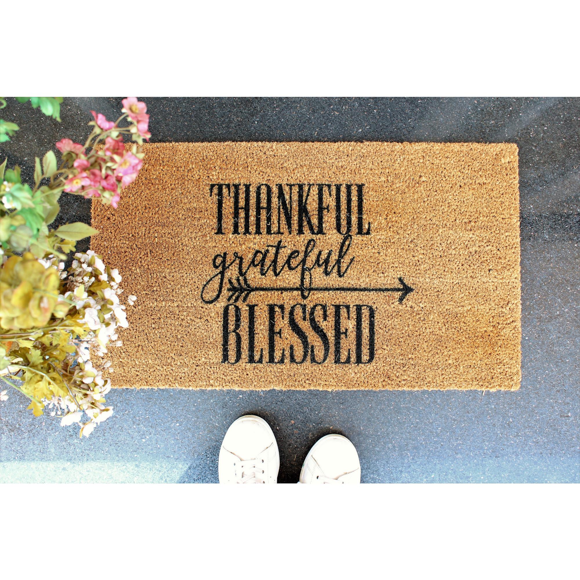 Fußmatte Thankful | Braun