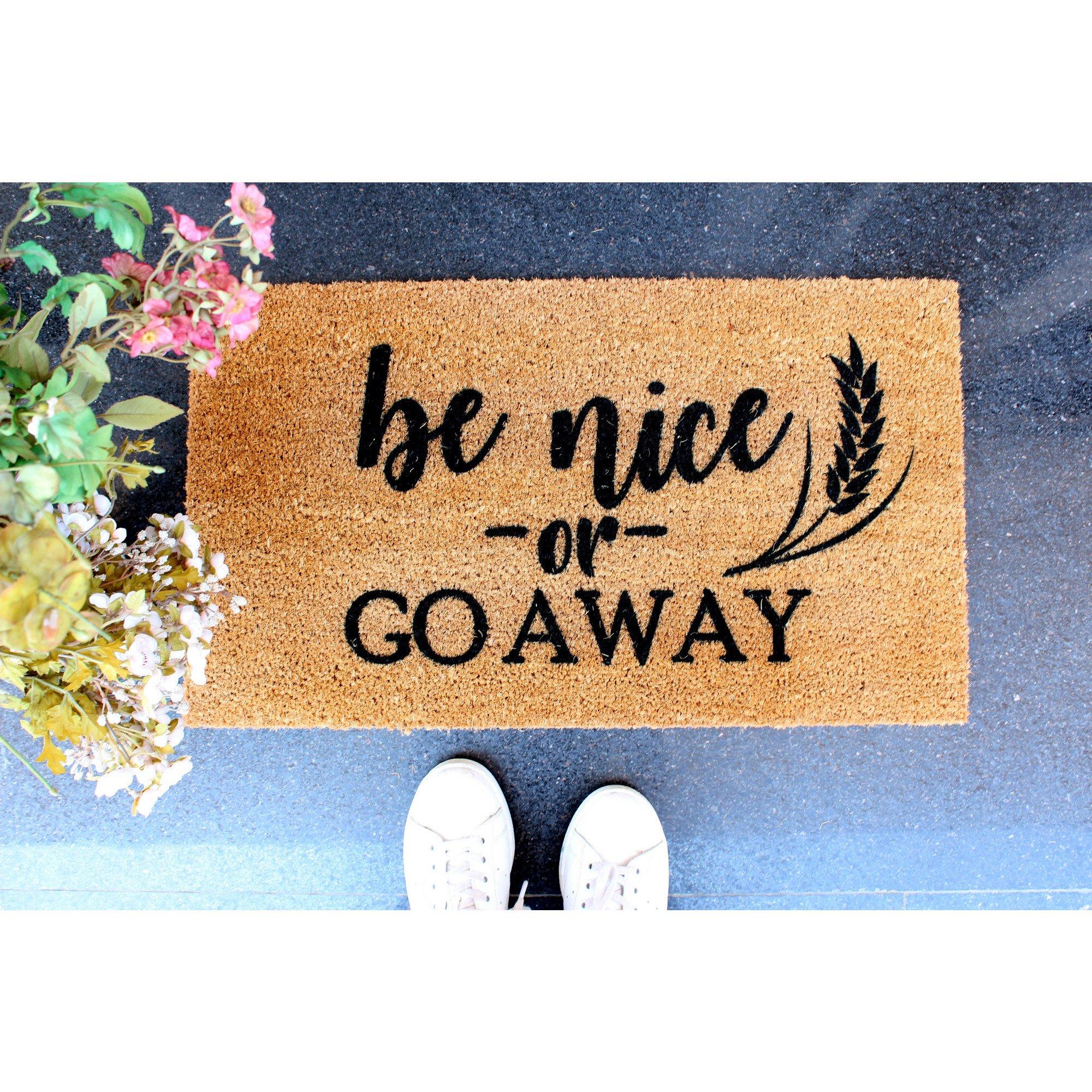 Fußmatte Go Away | Braun