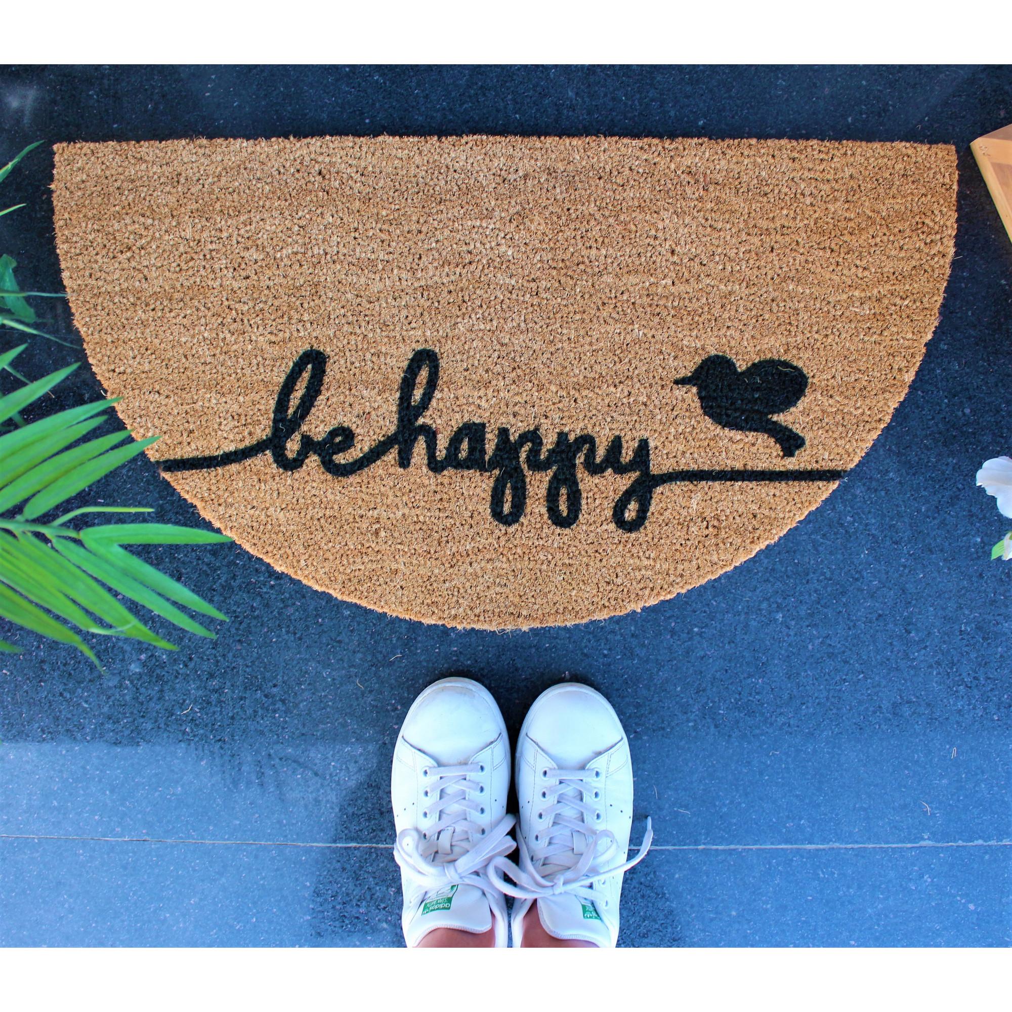 Fußmatte Be Happy | Braun