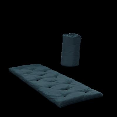 Bett in einer Tasche | Benzinblau