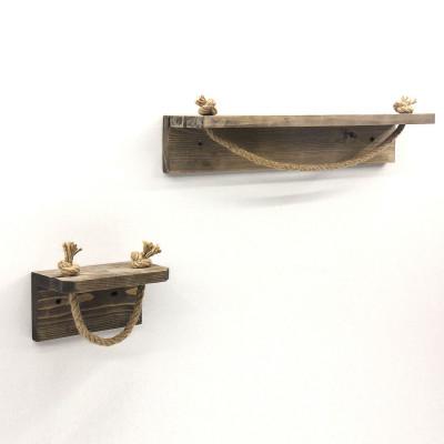 2er-Set Rohrhaken AA131 | Holz | Nussbaum