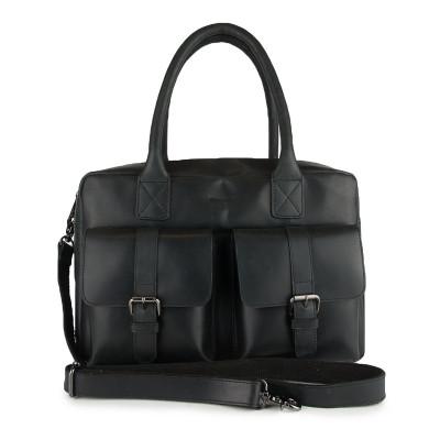 Tasche mit 2 Schnallen   Schwarz