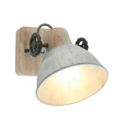 Spotlampe 1-L. Gearwood | Zink - Braun