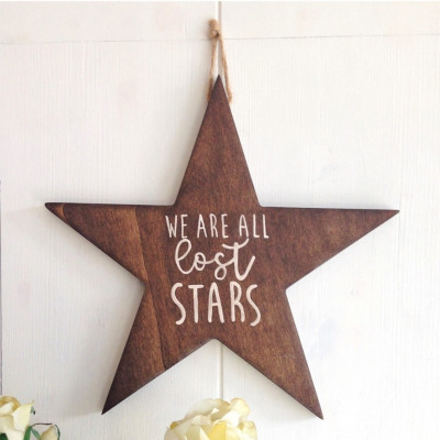 Dekoratives Holzwandzubehör  All Stars | Walnuss