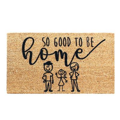 Fußmatte Good To Be Home   Braun