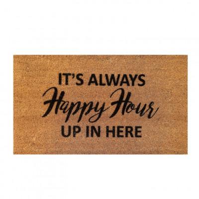 Fußmatte Happy Hour   Braun