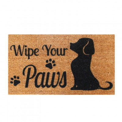 Fußmatte Wipe Your Paws   Braun