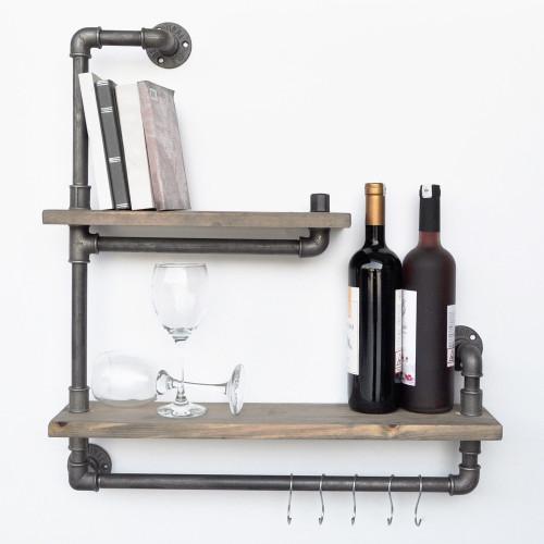 Pipe Shelf Boruraf 019   Black