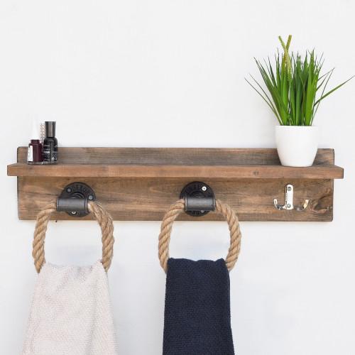 Shelf with Pipe Hooks