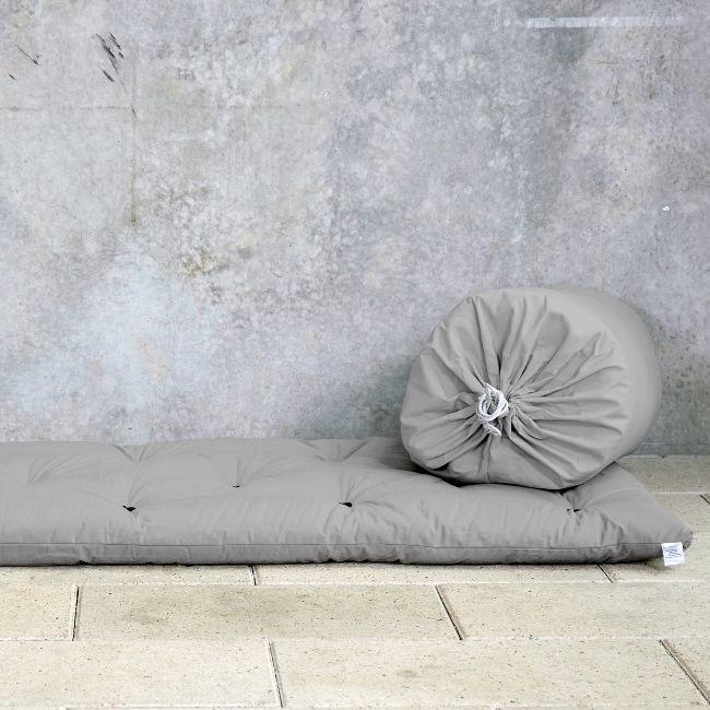 Bett in einer Tasche   Hellgrau