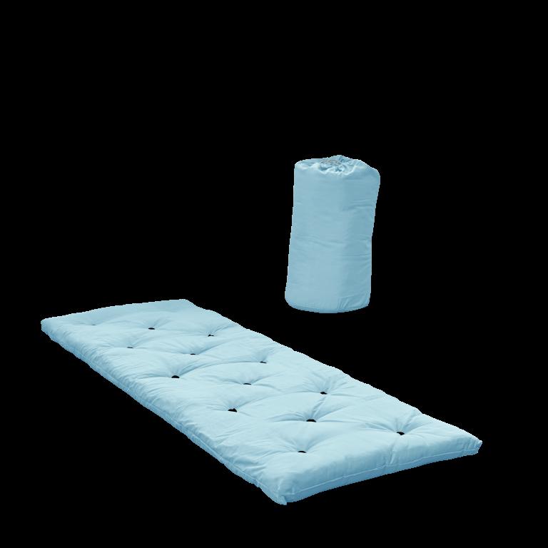 Bett in einer Tasche   Hellblau