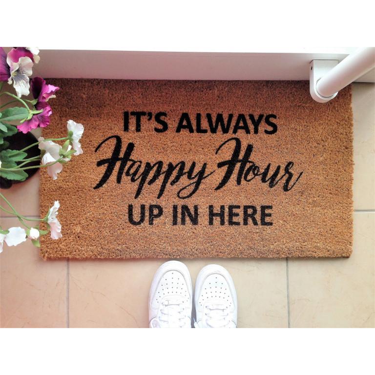 Fußmatte Happy Hour | Braun