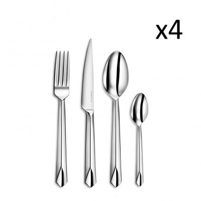 Besteckset | M16 TB Premium | 16 Stück | Silber