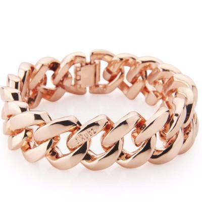 The Metal bracelet   Pink Gold Metal Bracelet