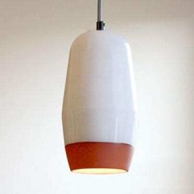 Small Pendant White / Terracotta