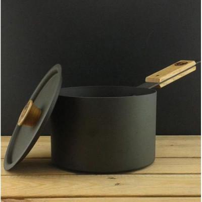 Eisen-Kasserolle mit Deckel | 17,5 cm