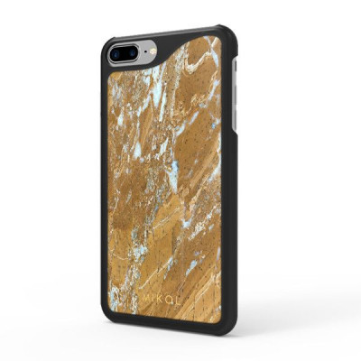 Marble iPhone Case | Galaxy Gold with Black Border