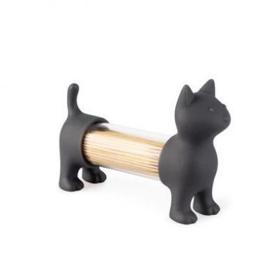 Zahnstocherhalter & Salz- und Pfefferstreuer Katze | Grau