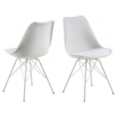 Set de 2 Chaises Iris | Blanc