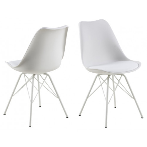 Set of 2 Chairs Iris | White