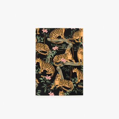 Notizbuch A5 | Black Lazy Jungle