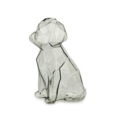 Vase Sphinx Hund 15 cm | Grau