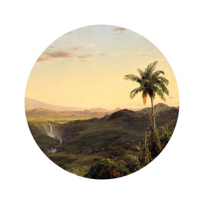 Wallpaper Circle Small Golden Age Landscapes