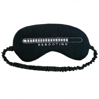 Neustart der Schlafmaske Plüsch | Schwarz