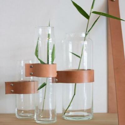 Water Glass Wrap Me Brown   Ø6.7 x 12.3 cm
