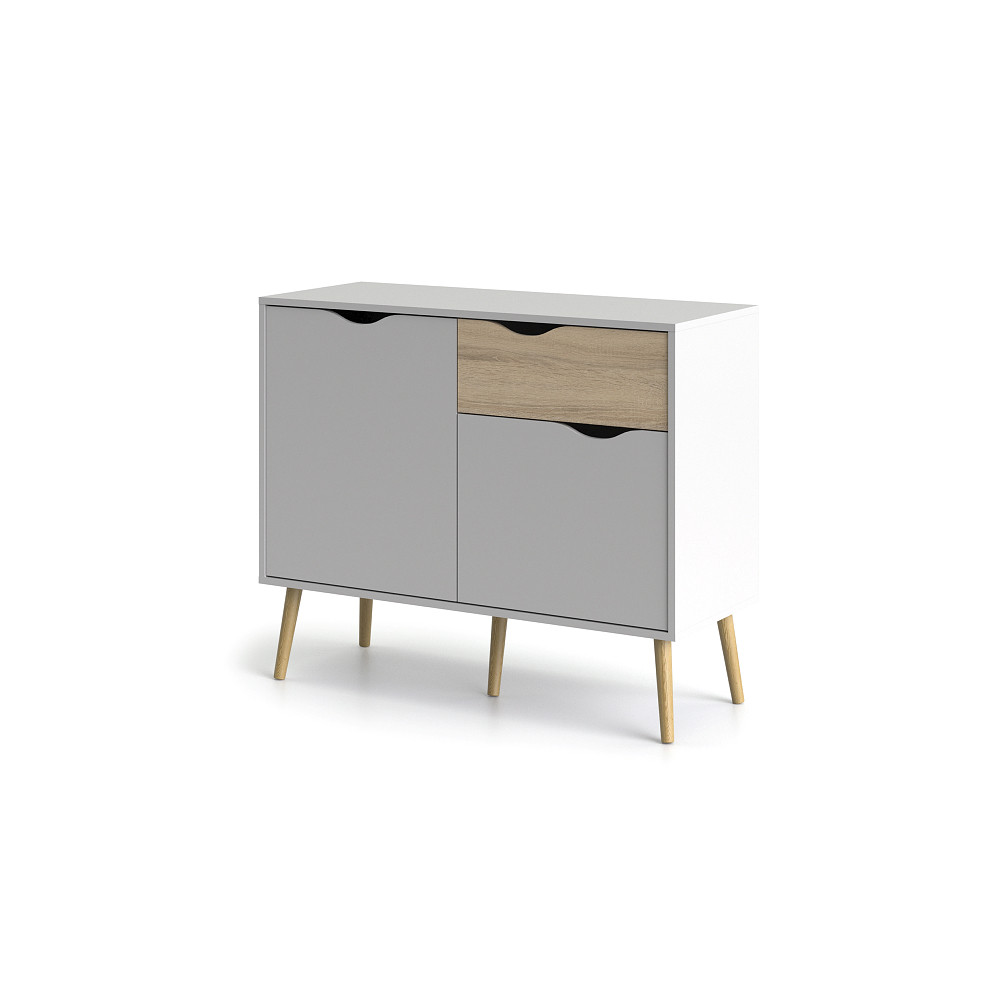 Sideboard with 2 Doors & 1 Drawer | White