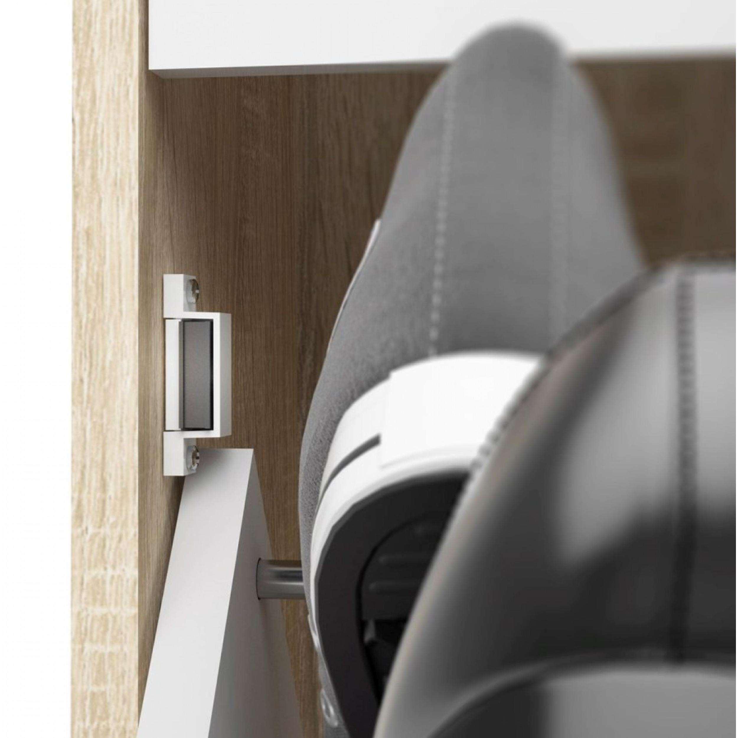 Dressing Cabinet with 4 Doors & 1 Mirror Door | White